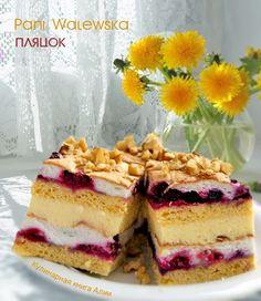 """Пляцок """"Pani Walewska"""" Russian Cakes, Russian Desserts, Russian Recipes, Eclairs, Hungarian Cake, Cake Recipes, Dessert Recipes, Delicious Desserts, Yummy Food"""