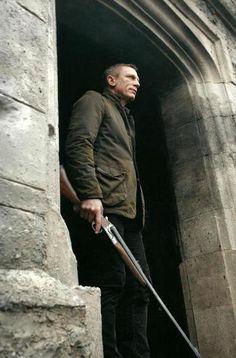James Bond . . . Daniel Craig . . . and his Anderson Wheeler .500 Nitro Express Double Rifle . . .