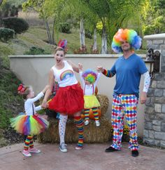 clown family costume