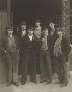 [Dockworkers (Schauerleute)]; August Sander (German, 1876 - 1964); Germany; 1929; Gelatin silver print; 21.9 x 17.5 cm (8 5/8 x 6 7/8 in.); 84.XM.126.136; Copyright: © J. Paul Getty Trust
