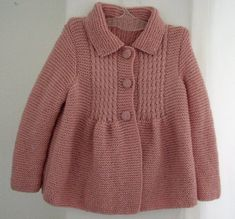 Items similar to Little Princess Coat Sweater for 2 to 3 Year Old Girls - Ready for Worldwide Shipping on Etsy Baby Knitting Patterns, Knitting For Kids, Crochet For Kids, Crochet Baby, Knit Crochet, Knitting Ideas, Baby Patterns, Baby Cardigan, Baby Pullover