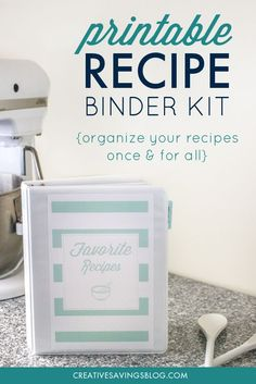 Total Recipe Organization: How to Make Your Dream Recipe Binder Binder Organization, Recipe Organization, Organizing Ideas, Family Recipe Book, Recipe Books, Diy Recipe Book, Dream Recipe, Recipe Folder, Planning Budget