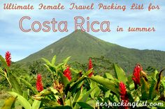 Female packing list to Costa Rica in summer by @Samantha Alvis (Wanderlust and Lollygagging)