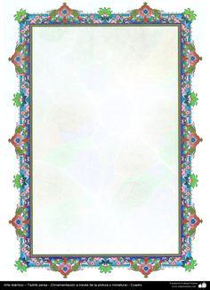 Arte islámico – Tazhib persa- (Ornamentación a través de la pintura o miniatura) - Cuadro 106 | Galería de Arte Islámico y Fotografía