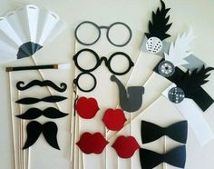 Look Over This 9 Ways You Can Relive The Great Gatsby These would be super cute props for a photo booth! The post 9 Ways You Can Relive The Great Gatsby These would be super cute props for a pho… appeared first on 99 Decor . Great Gatsby Motto, Great Gatsby Theme, Great Gatsby Wedding, Wedding Vintage, Wedding Ideas, 1920s Wedding, Party Wedding, Wedding Photos, Wedding Themes