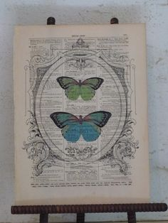 Print on antique dictionary page