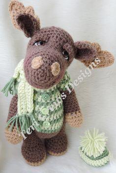 Moose Crochet Pattern Instant Download PDF format Simply Cute