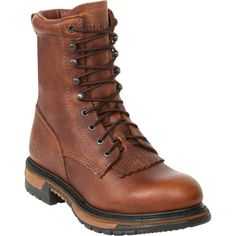 Rocky Ride 8in. Lacer Western Boot — Brown