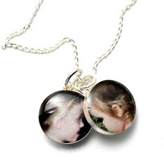 Custom Photo Jewelry - This sweet necklace features the two very best parts of me :) #dlkdesigns #photojewelry