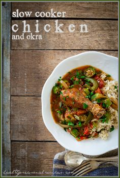 slow-cooker-chicken-and-okra, for when i get okra in my CSA
