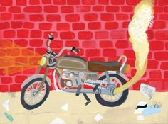 """""""Speedy Motorcycle"""" by Keith Greiman"""
