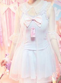 Sheer Dreamy Kawaii Outer Cardigan on Storenvy Harajuku Fashion, Kawaii Fashion, Lolita Fashion, Cute Fashion, Fashion Outfits, Melanie Martinez Style, Visual Kei, Style Kawaii, Pretty Outfits