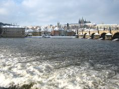 You can get this amazing view during a walk along Vltava River in the center of Prague