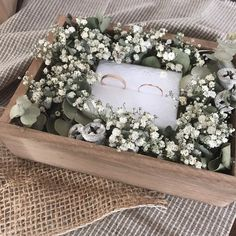 Wedding Hamper, Wedding Gift Boxes, Wedding Gifts, Ring Holder Wedding, Ring Pillow Wedding, Engagement Decorations, Diy Wedding Decorations, Engagement Gift Baskets, Flower Box Gift