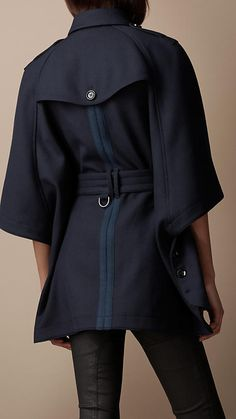 Wool Blend Trench Cape | Burberry