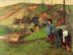 Paul Gauguin Landscape | Paul Gauguin, Landscape of Brittany