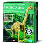 From the award winning series Dig A Dinosaur. Dig away at the clay to reveal the bones of a Brachiosaurus, build the skeleton and mount on the stand provided. Dinosaur Excavation Kit, Dinosaur Fossils, Dinosaur Dig, Dinosaur Toys For Kids, Kids Toys, Science Kits, Science For Kids, Dinosaur Skeleton, Educational Toys For Kids