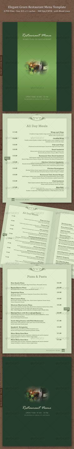 Cafecito Coffee Shop Menu + Loyalty Card Template #design Download - a la carte menu template