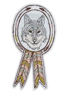 Coral and Tusk - wolf badge..for Cheyenne's jean jacket