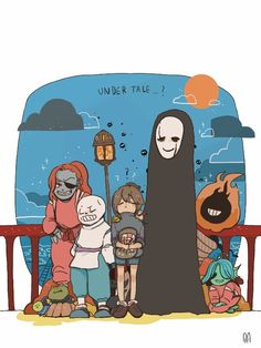 By @vivivi7068 (twitter) - Spirited Away and Undertale!? I love it!