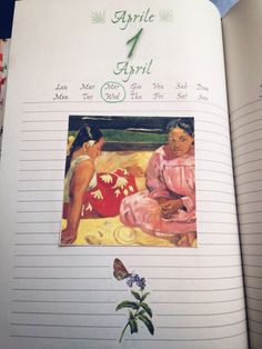 April diary illustrations