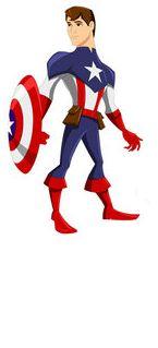WILLIAM dressed as Captain America