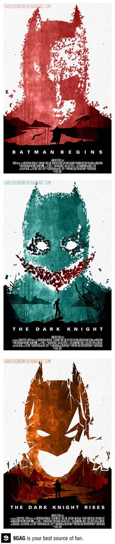 Dark Knight tribute posters.