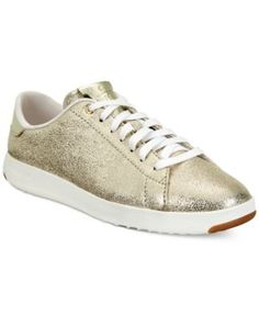 Cole Haan Grand Pro Tennis Sneakers - Gold 10.5M