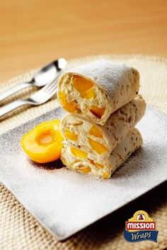 #missionwraps #wraps #food #inspiration #meal #sweet #dessert #peach #delicious www.missionwraps.fr