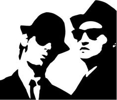 Rock Band s Blues Brothers Style 1 Vinyl Decal Sticker Face Stencils, Stencil Art, Stenciling, The Blues Brothers, Scroll Saw Patterns Free, Black Silhouette, Portrait Art, Rock Art, Vinyl Decals