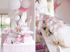 Decoration pink/white