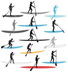 Free stand up paddle boarding sup vector art - Download vectors ...