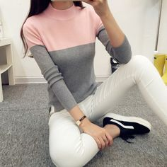High Elastic Half Turtleneck Women Sweaters 2017 Spring Pullovers Female Casual Long Sleeve Knitted Sweater Jumper Pull Femme