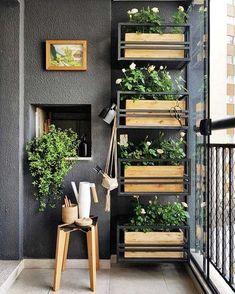 √ 55 apartment balcony decor ideas will maximizing tiny terrace for relaxing zone 20 Small Balcony Design, Small Balcony Garden, Vertical Garden Design, Small Balcony Decor, Terrace Design, Vertical Gardens, Balcony Ideas, Apartment Balcony Decorating, Apartment Balconies