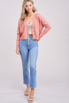 Best Online Clothing Stores, Summer Outfits, Cute Outfits, Tie Waist Shorts, Cute Boutiques, Pink Cardigan, Affordable Clothes, Summer Trends, Ruffle Blouse