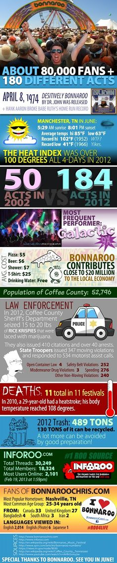 Bonnaroo Chris Infographic