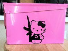 LOLs, I know I have some hello kitty fans on my TL!!  Hello Kitty Ammo Can
