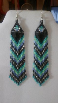 Native American Style Beaded Tuquoise Green by BeadedCreationsetc