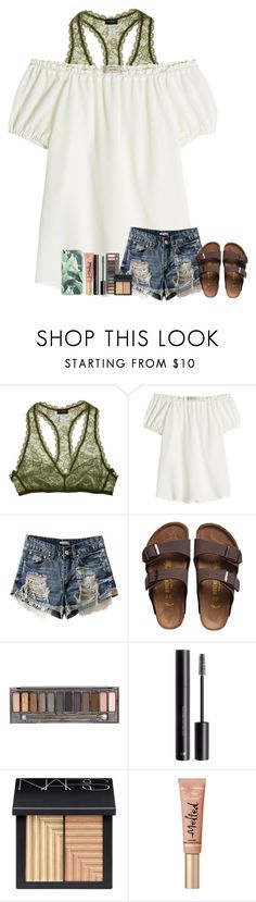 """""""You Break My Heart In The Blink Of An Eye"""" by theafergusma ❤ liked on Polyvore featuring Cosabella, Etro, Birkenstock, Urban Decay, H&M and NARS Cosmetics"""