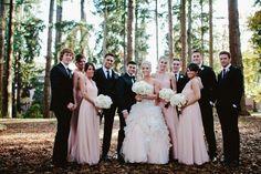 Blush & ivory afternoon wedding from Taylor'd Events Group featured on Seattle Met Bride & Groom || Jamie Jones Photography || See more ➛ http://seattlemetbrideandgroom.com/2015/08/real-wedding-janae-larson-and-dana-pirolo/ #bridalparty #blushwedding #washingtonwedding