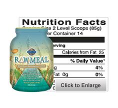 RAW MEAL... protein, probiotics, enzymes, beta-glucans - EVERYTHING YOU NEED! (and nothing you don't!)