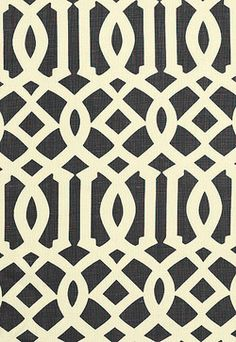 Imperial Trellis in Parchment / Midnight - contemporary - upholstery fabric - F. Schumacher & Co.