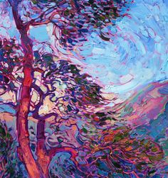 Wooded Light - Modern Impressionism | Contemporary Landscape Oil Paintings for Sale by Erin Hanson