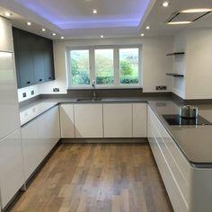 Mr & Mrs Fort - DP Interiors of Preston, Lancashire - Modern Kitchen Kitchen Ceiling Design, Kitchen Room Design, Modern Kitchen Design, Kitchen Interior, Kitchen Decor, Kitchen Ideas, Kitchen Living, New Kitchen, Luxury Kitchens