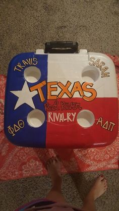 Texas OU painted cooler