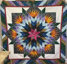 Summer Solstice, Quiltworx.com, Finished in a class with Penny Havens Streeter