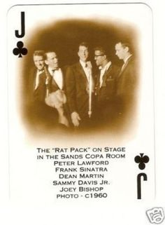 Rat Pack Frank Sinatra Dean Martin Sammy Davis Jr Card