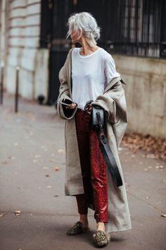Streetstyle - slouchy maxi coat