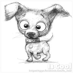 Young dog Sketch by IsCoolArt on DeviantArt Cute Monsters Drawings, Pencil Drawings Of Animals, Cartoon Drawings, Chihuahua Drawing, Puppy Drawing, Dachshund, Cartoon Dog, Cartoon Ideas, Dog Signs