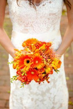 Virginia Estate Wedding Stephen Gosling Photography Orange Bouquet 275x412 Alicia + Kevins Spring Garden Wedding in Alexandria, Virginia